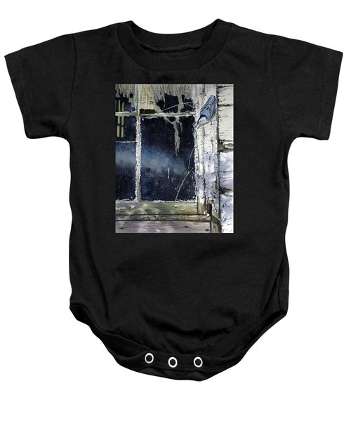 Nuthatch And Window Baby Onesie