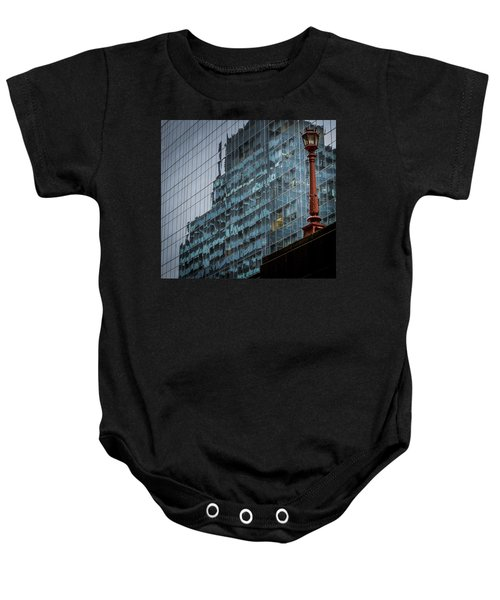 Ny Reflections With Lamp Baby Onesie