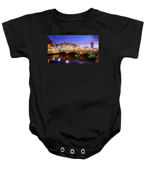 O Connell Bridge At Night - Dublin Baby Onesie