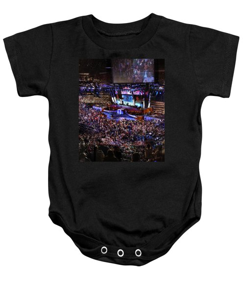Obama And Biden At 2008 Convention Baby Onesie by Stephen Farley