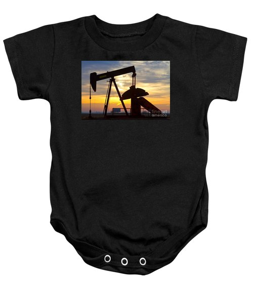Oil Pump Sunrise Baby Onesie by James BO  Insogna