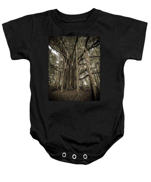 Old Banyan Tree Baby Onesie