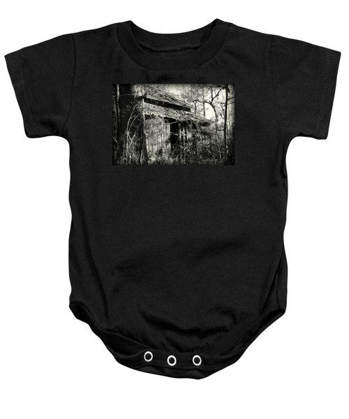 Old Barn In Black And White Baby Onesie