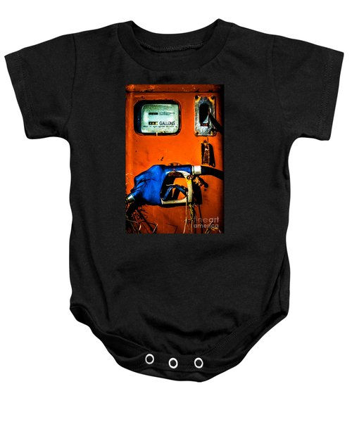 Old Farm Gas Pump Baby Onesie