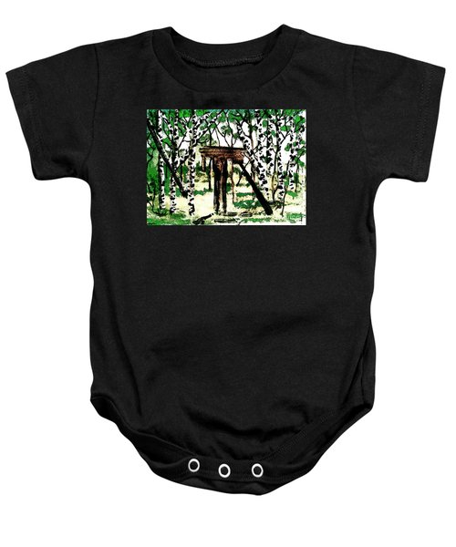 Old Obstacles Baby Onesie