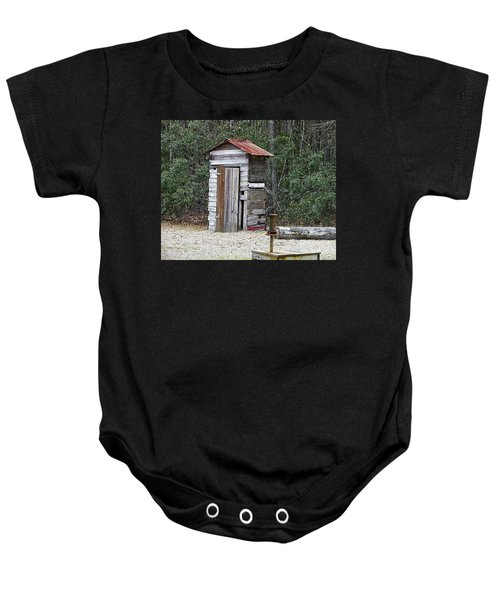 Old Time Outhouse And Pitcher Pump Baby Onesie