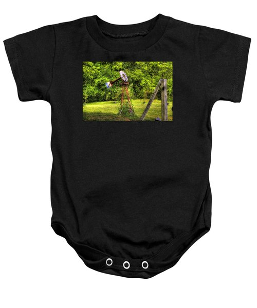 Baby Onesie featuring the photograph Old Windmill by Jonny D