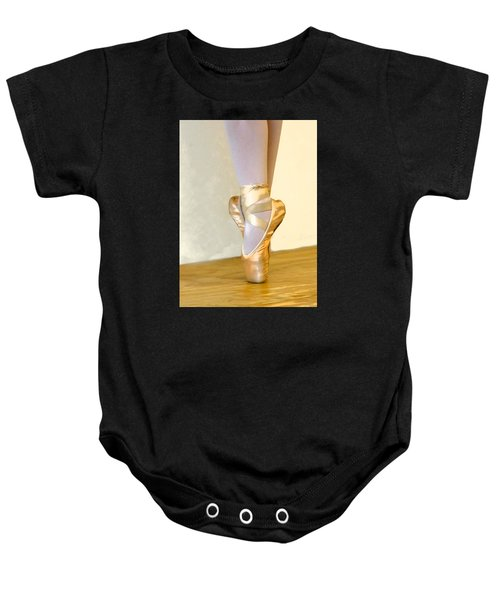 Ballet Toes On Point Baby Onesie