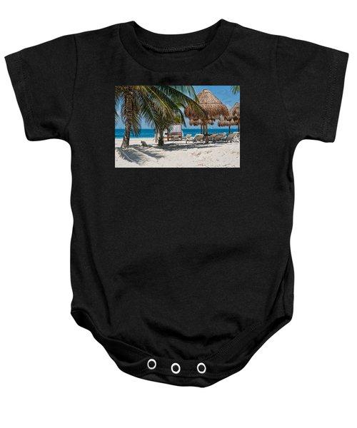 White Sandy Beach In Isla Mujeres Baby Onesie