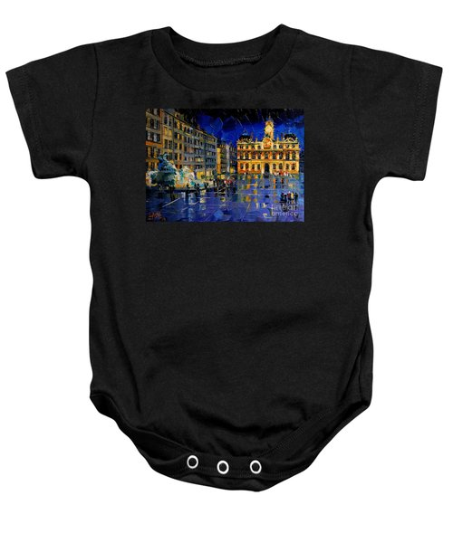 One Evening In Terreaux Square Lyon Baby Onesie