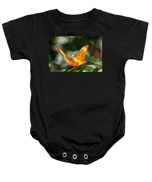 Orange Butterfly Baby Onesie