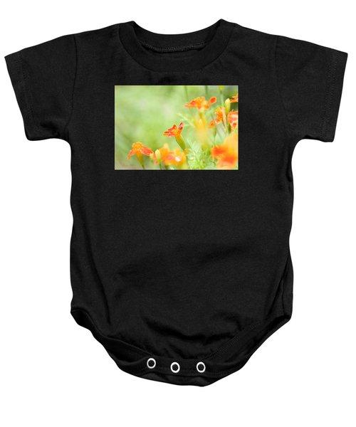 Orange Meadow Baby Onesie