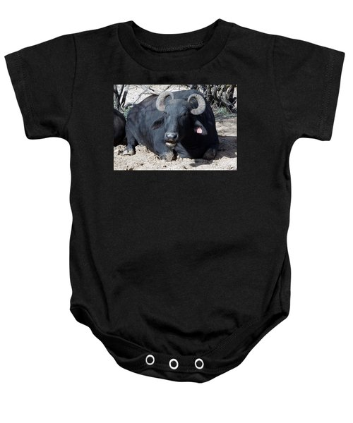 Out Of Africa  Water Buffalo Baby Onesie