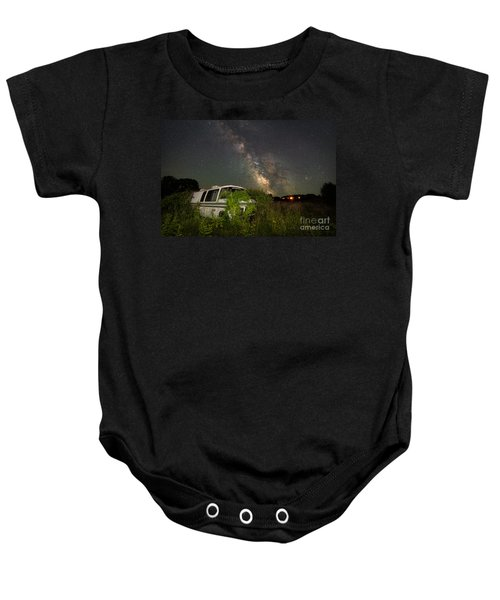 Overgrown Rv Milky Way Wide Angle  Baby Onesie