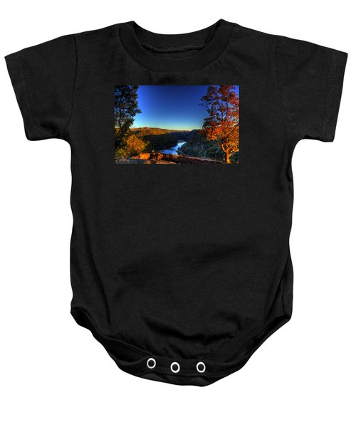 Baby Onesie featuring the photograph Overlook In The Fall by Jonny D