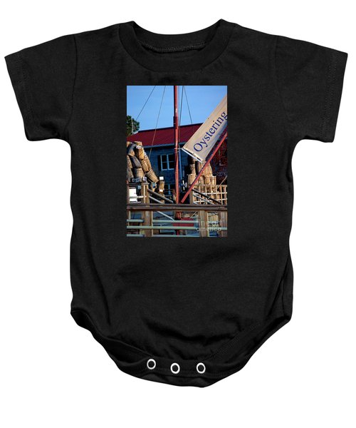 Oystering History At The Maritime Museum In Saint Michaels Maryland Baby Onesie
