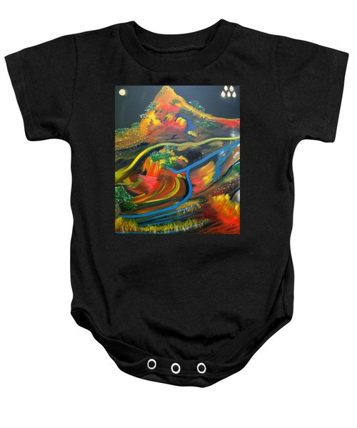 Painted Landscape Baby Onesie