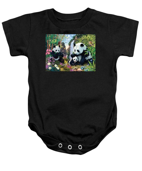 Panda Valley Baby Onesie by Steve Read