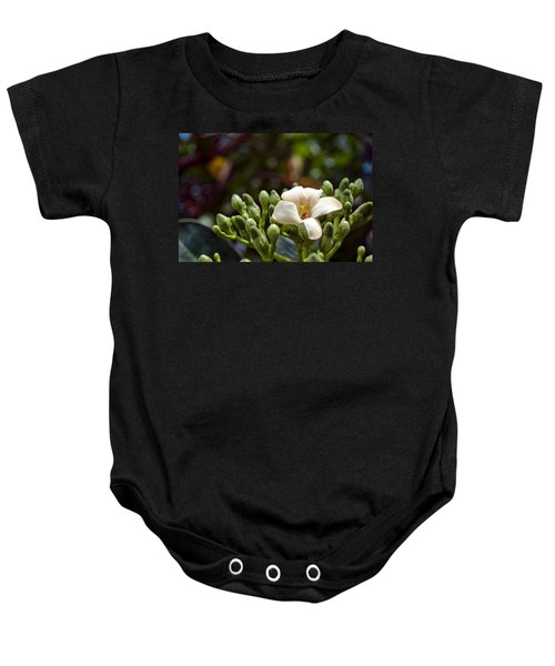 Papaya Flower Baby Onesie
