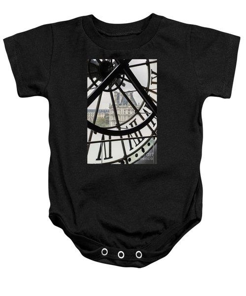 Paris Clock Baby Onesie