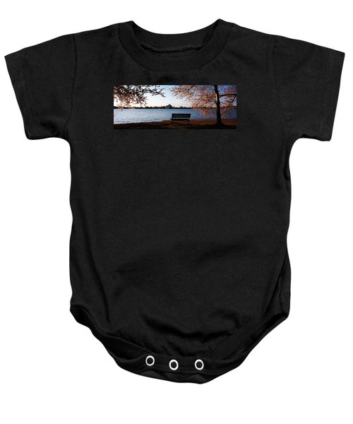Park Bench With A Memorial Baby Onesie by Panoramic Images