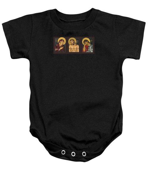 Passion Triptych Baby Onesie