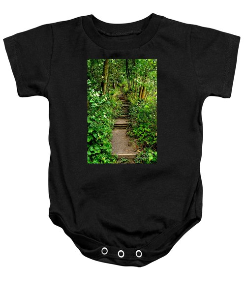 Path Into The Forest Baby Onesie