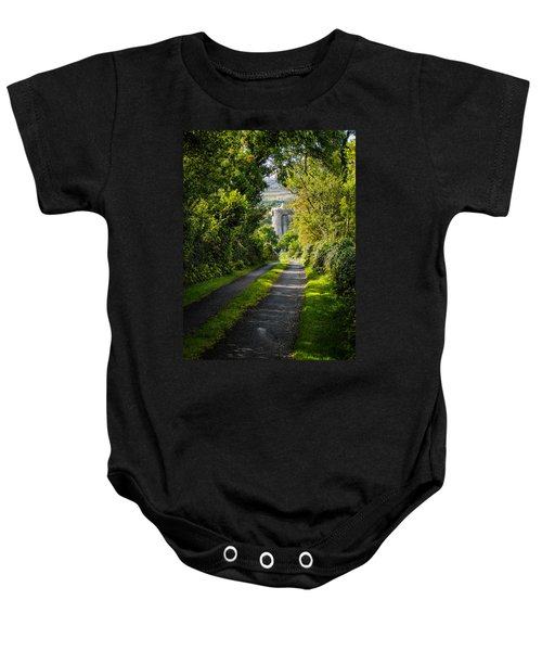 Baby Onesie featuring the photograph Path To Newtown Castle by James Truett