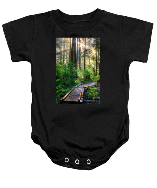 Pathway Into The Light Baby Onesie