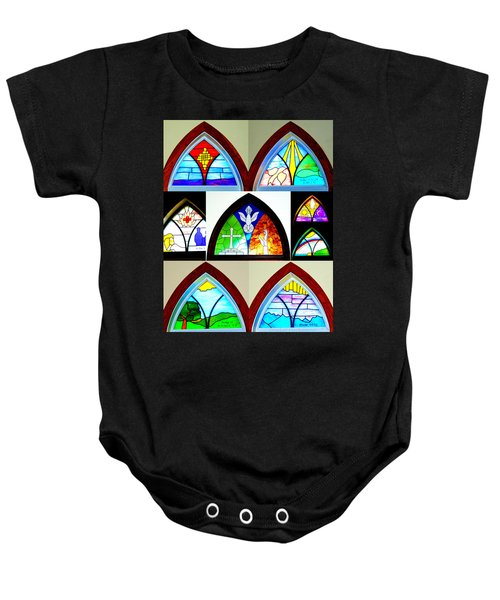 Peace To All Who Enter Here Baby Onesie