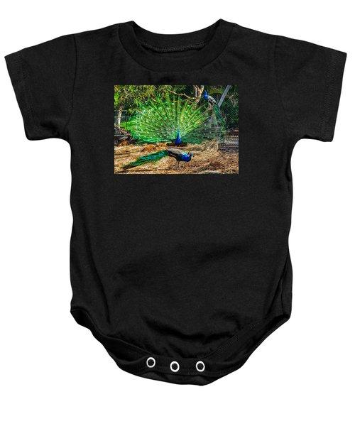Peacocking Baby Onesie