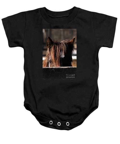 Peek-a-boo Pony Baby Onesie