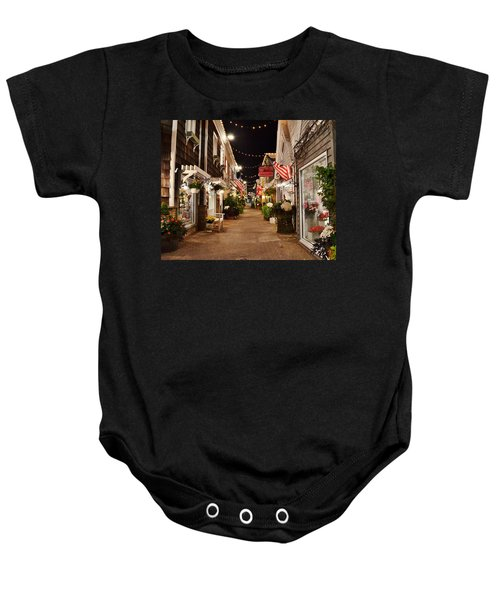 Penny Lane At Night - Rehoboth Beach Delaware Baby Onesie