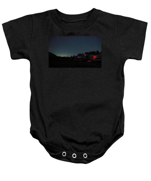 Perseid Meteor-julian Night Lights Baby Onesie