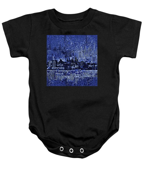 Philadelphia Skyline Abstract 2 Baby Onesie