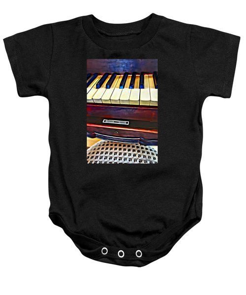 Piano And Stool Baby Onesie