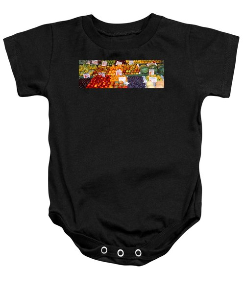 Pike Place Market Seattle Wa Usa Baby Onesie by Panoramic Images