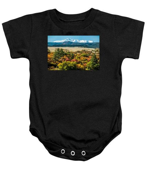 Pikes Peak Over Scrub Oak Baby Onesie