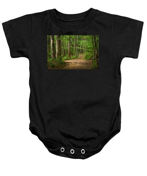 Pinewood Path Baby Onesie