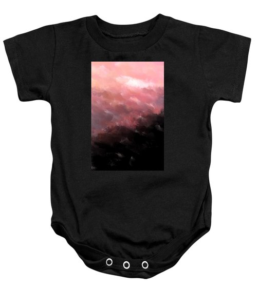Pink Clouds Baby Onesie