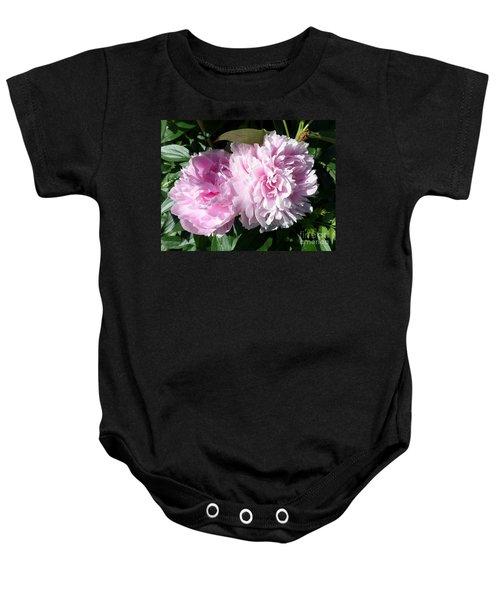 Pink Peonies 3 Baby Onesie