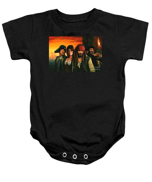 Pirates Of The Caribbean  Baby Onesie by Paul Meijering