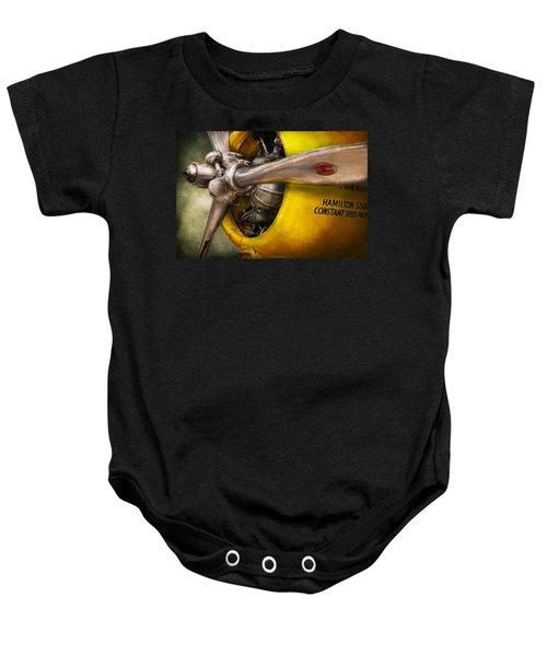 Plane - Pilot - Prop - Twin Wasp Baby Onesie