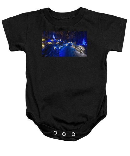 Plank Bridge - Panoramic Baby Onesie