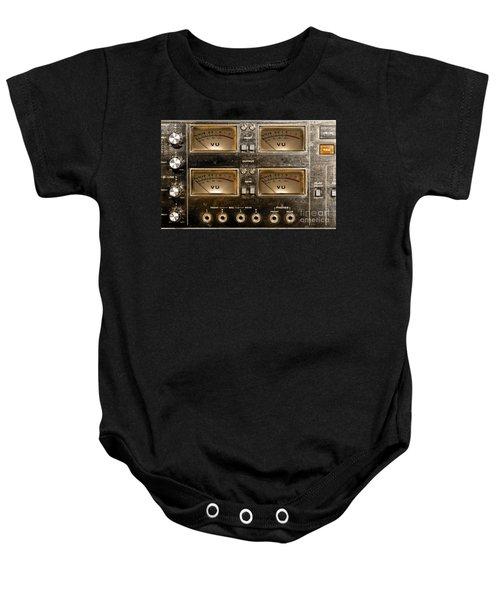 Playback Recording Vu Meters Grunge Baby Onesie