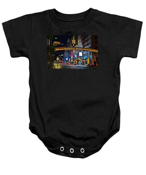 Playhouse Square Baby Onesie by Frozen in Time Fine Art Photography