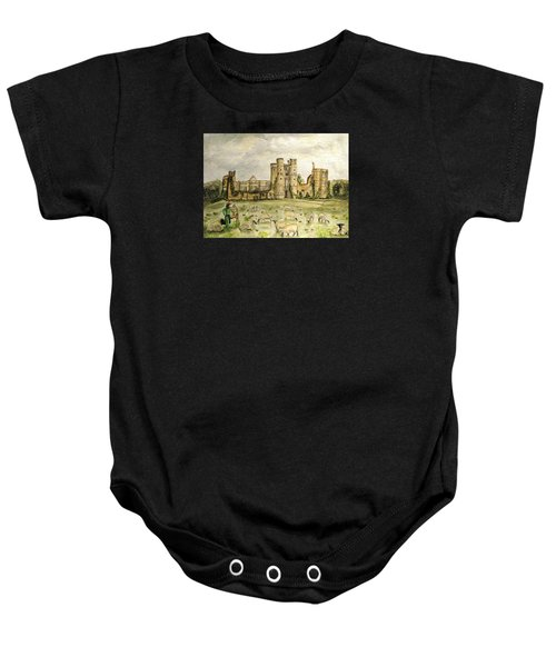Plein Air Painting At Cowdray House Sussex Baby Onesie