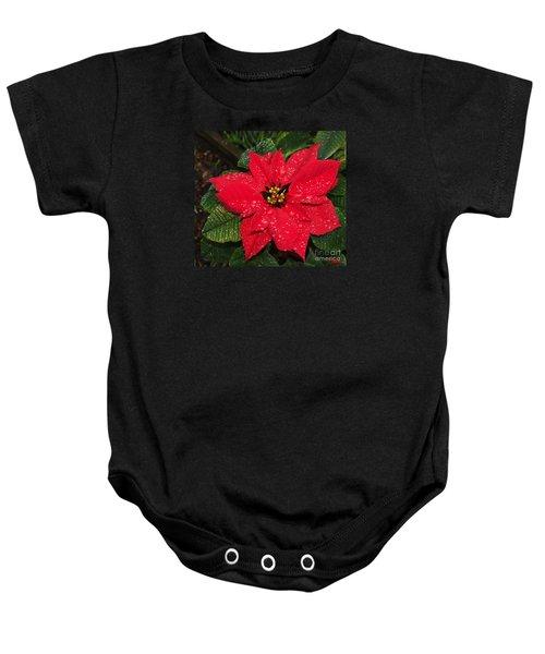 Poinsettia - Frozen In Time Baby Onesie