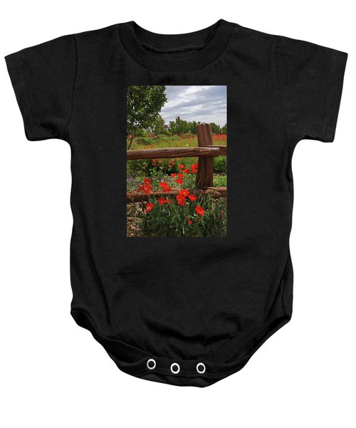 Poppies At The Farm Baby Onesie