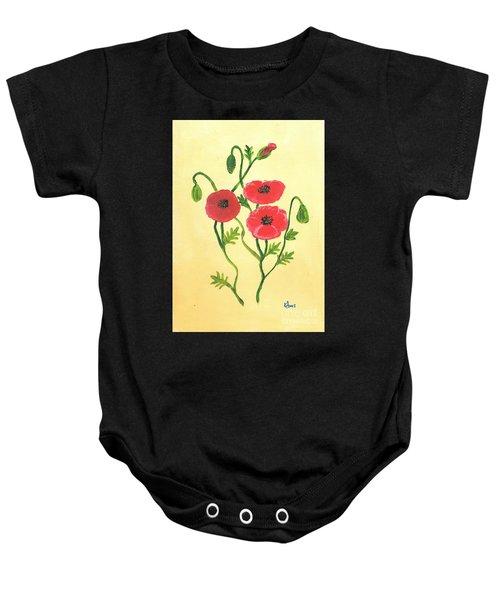 Poppies Baby Onesie